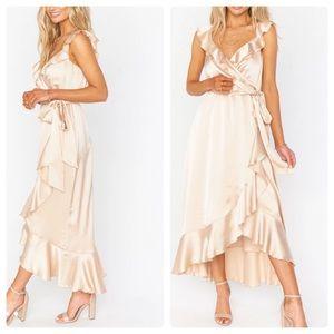 Show Me Your Mumu Ruffle wrap dress